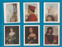 Collectable cigarette cards set Italian Art First series 1930